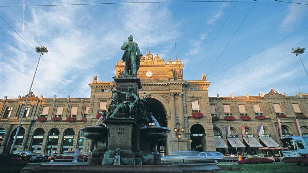 Blick auf den Hauptbahnhof in Zürich