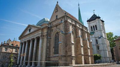Die St. Pierre Cathedrale in Genf