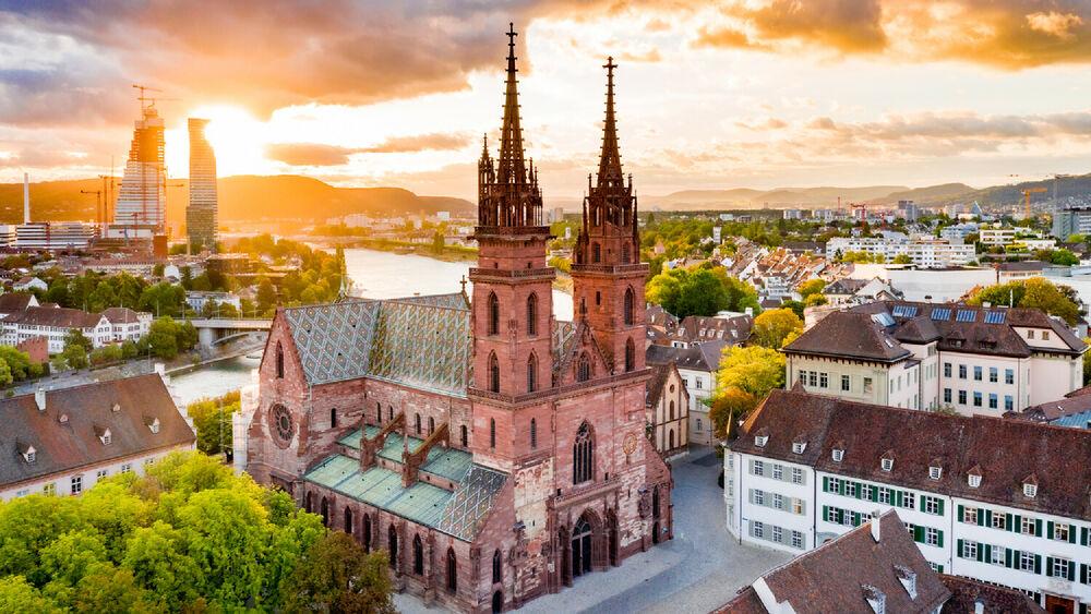 Das Basler Münster von oben