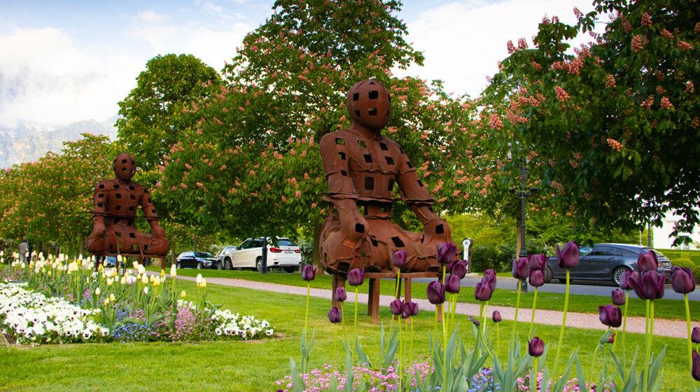 Skulptur bei der Bad RagARTz