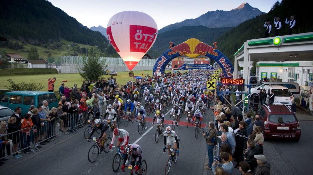 Start des Radmarathons