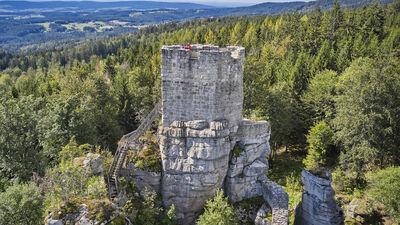 Blick auf den Naturpark Steinwald im Fichtelgebirge