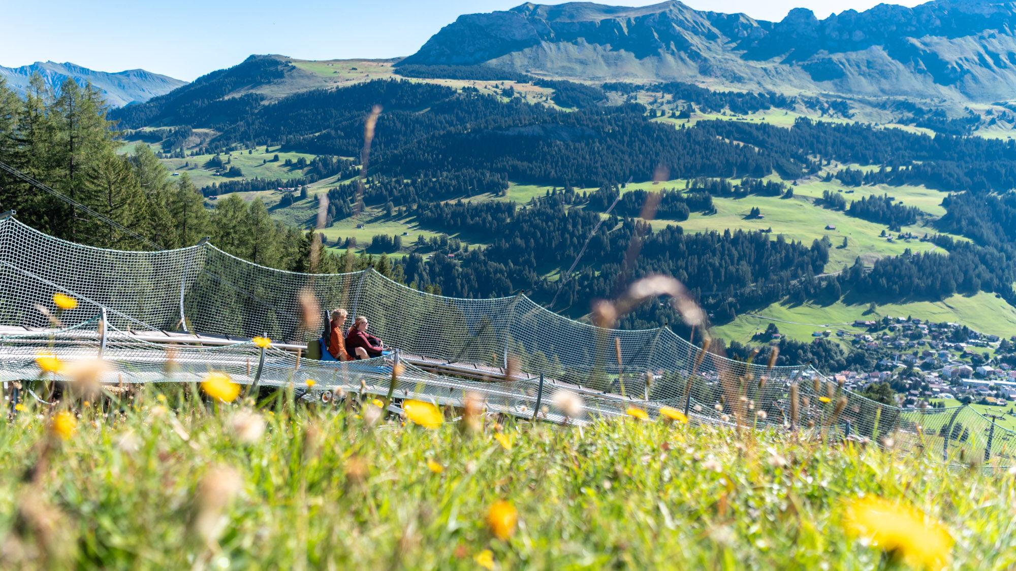 Rodelbahn Pradaschier in Churwalden