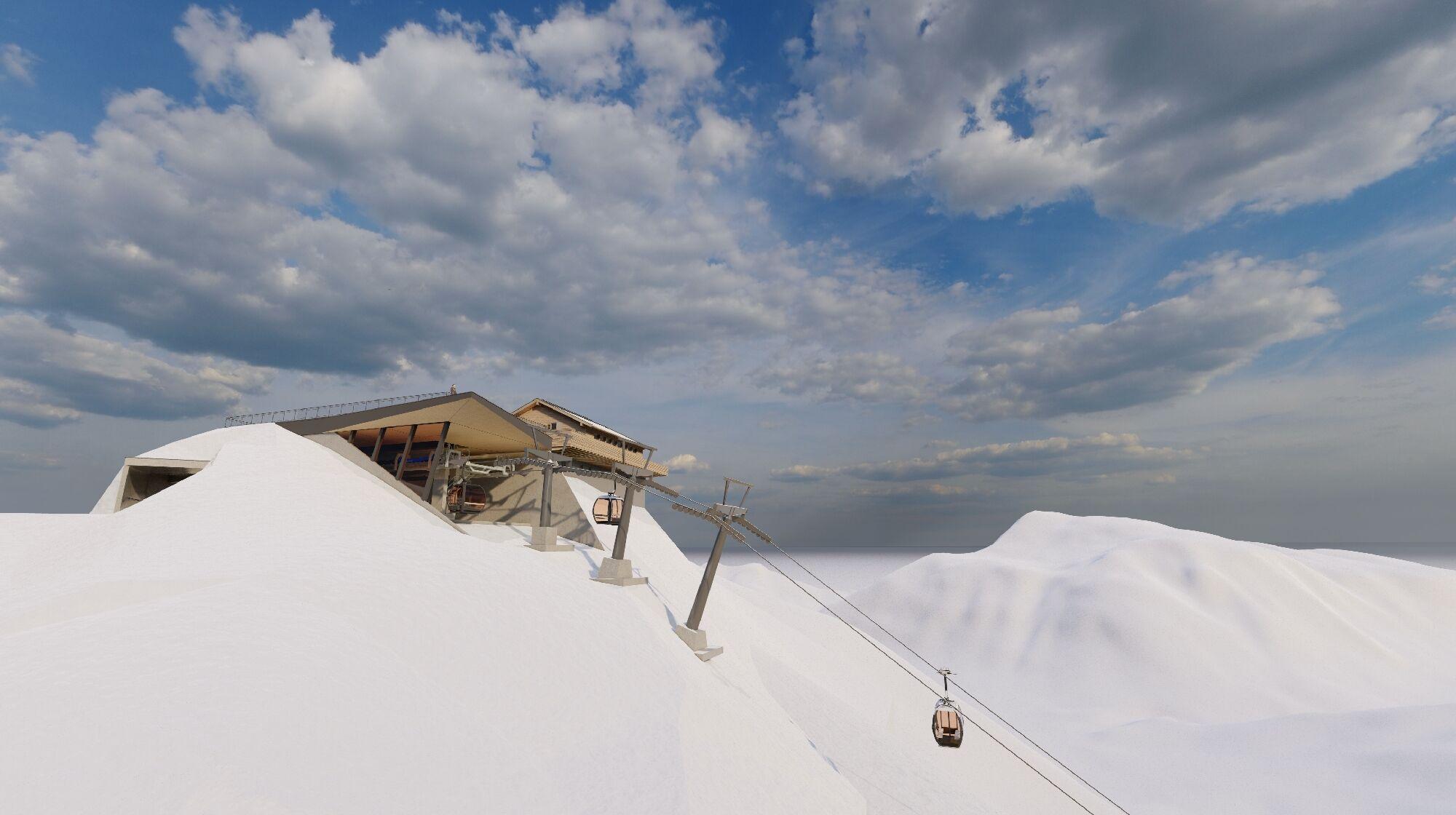 So soll die neue Bergstation aussehen