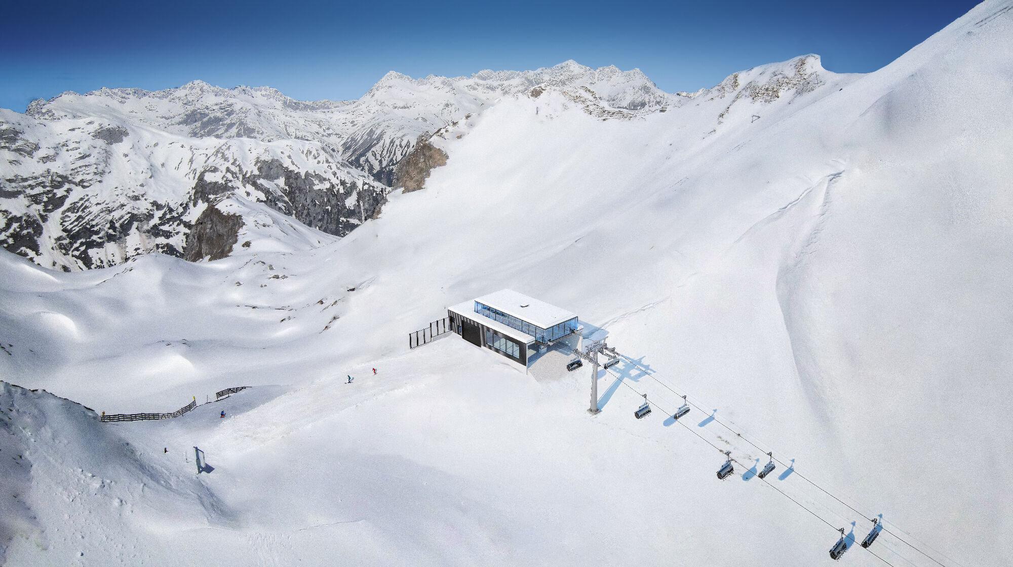 Die neue Bergstation der Madlochbahn