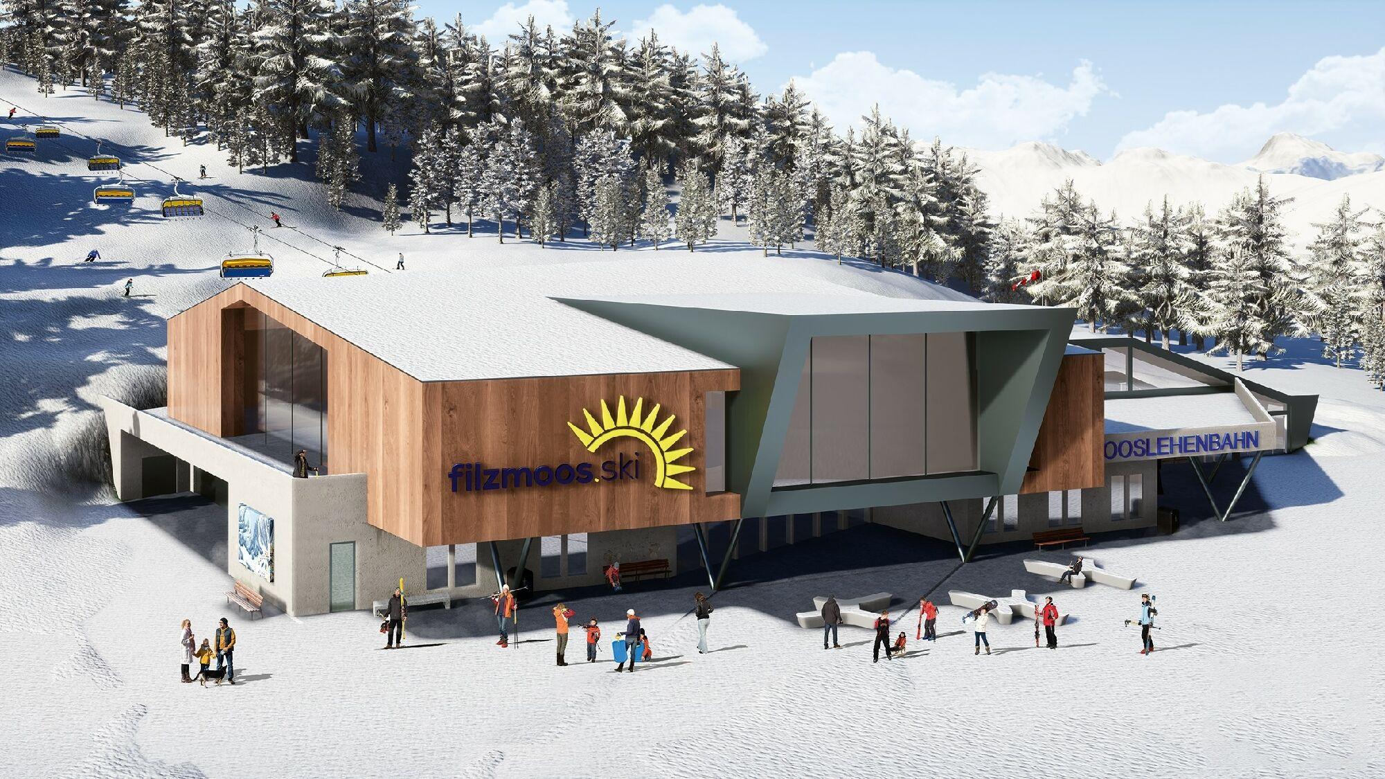Visualisierung der neuen Mooslehenbahn in Filzmoos