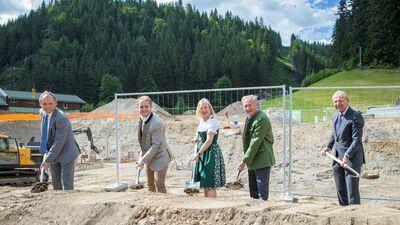 Spatenstich Mooslehenbahn Filzmoos Juni 2021