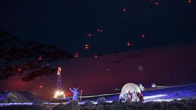 Beeindruckende Kulisse beim Gletscherschauspiel