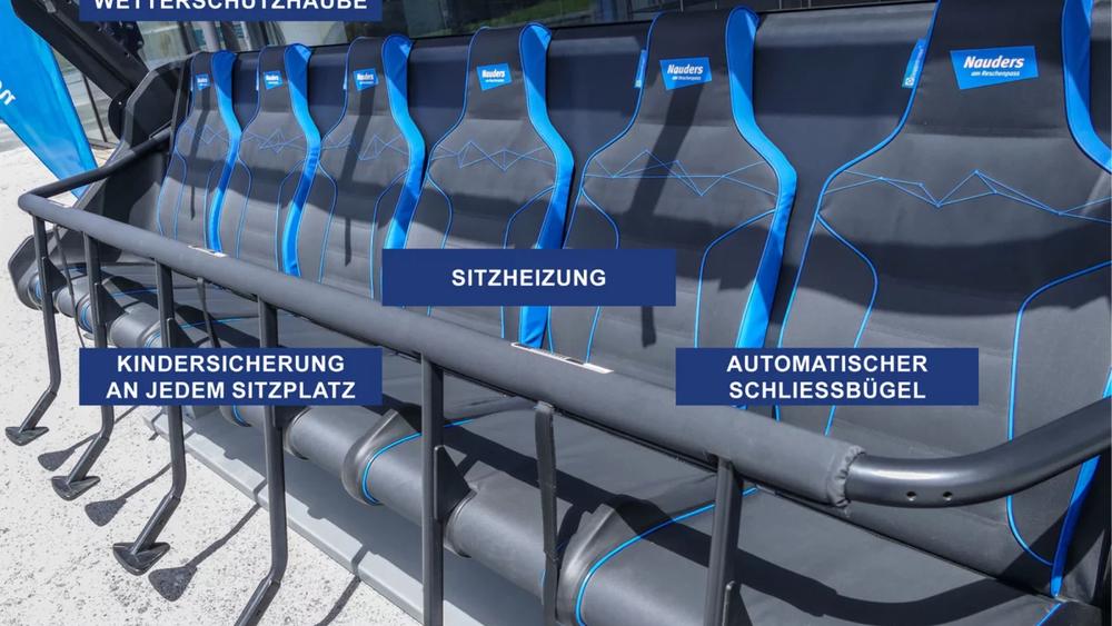 Die neuen Sessel der Goldseebahn in Nauders