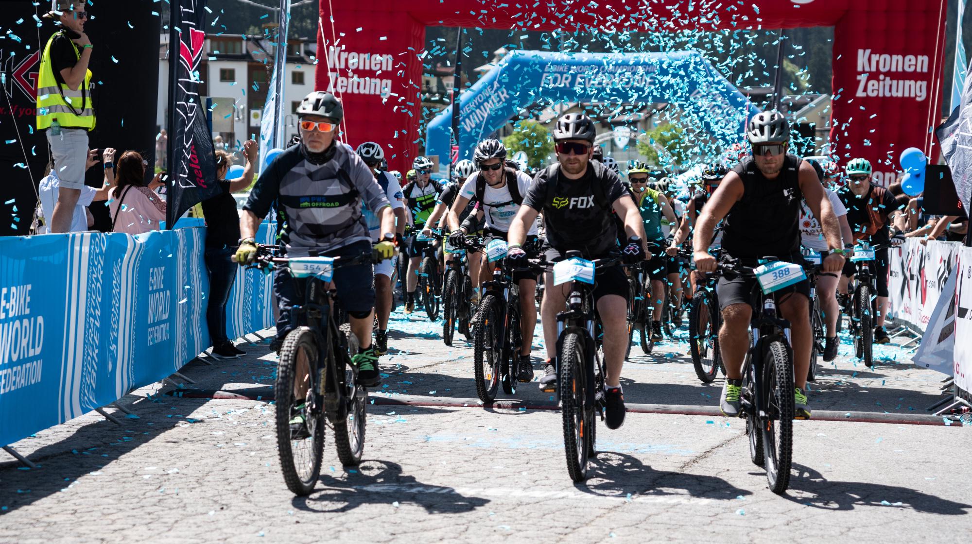 Bei der E-Bike WM in Ischgl