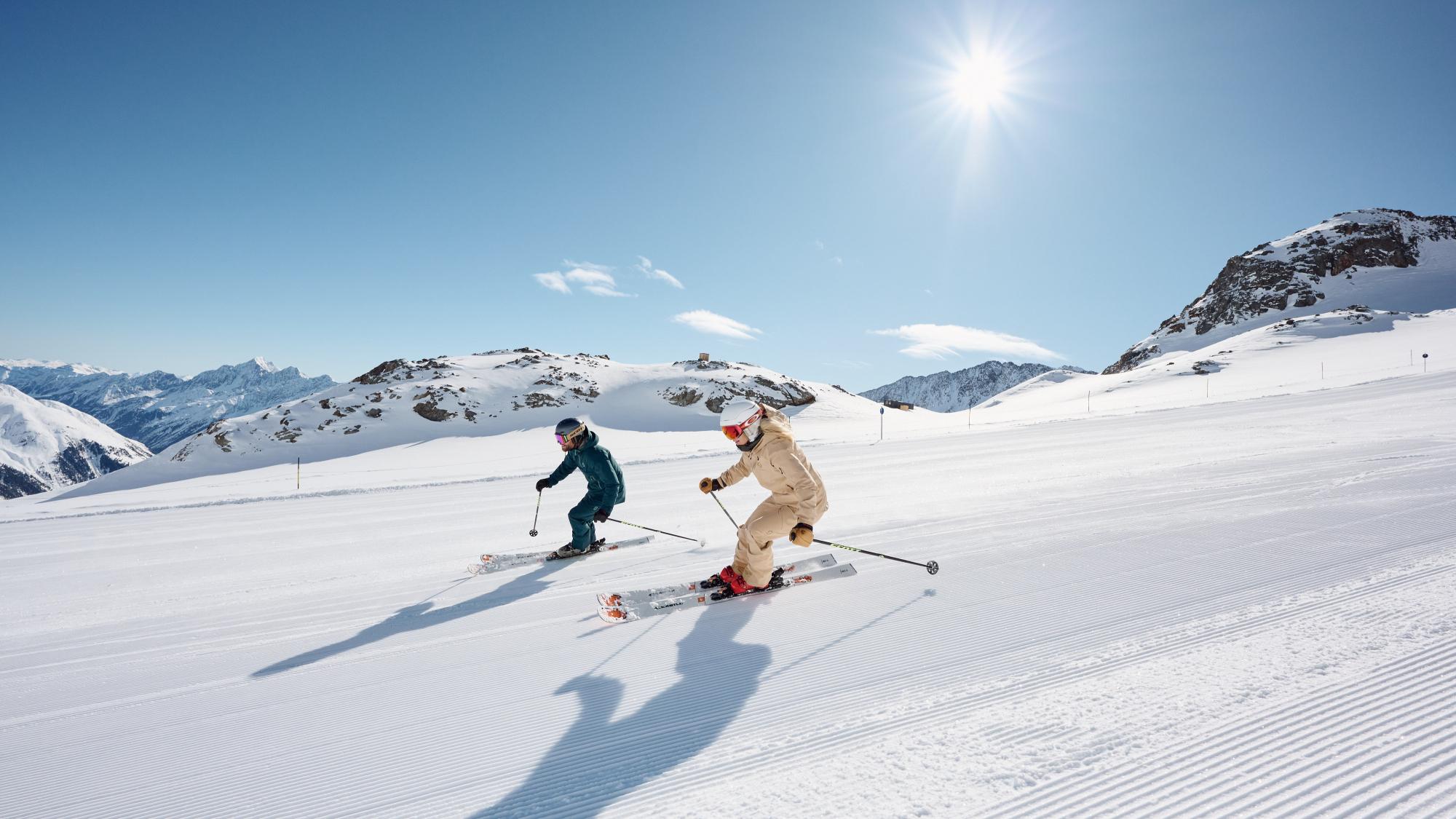 Skifahrer am Stubaier Gletscher