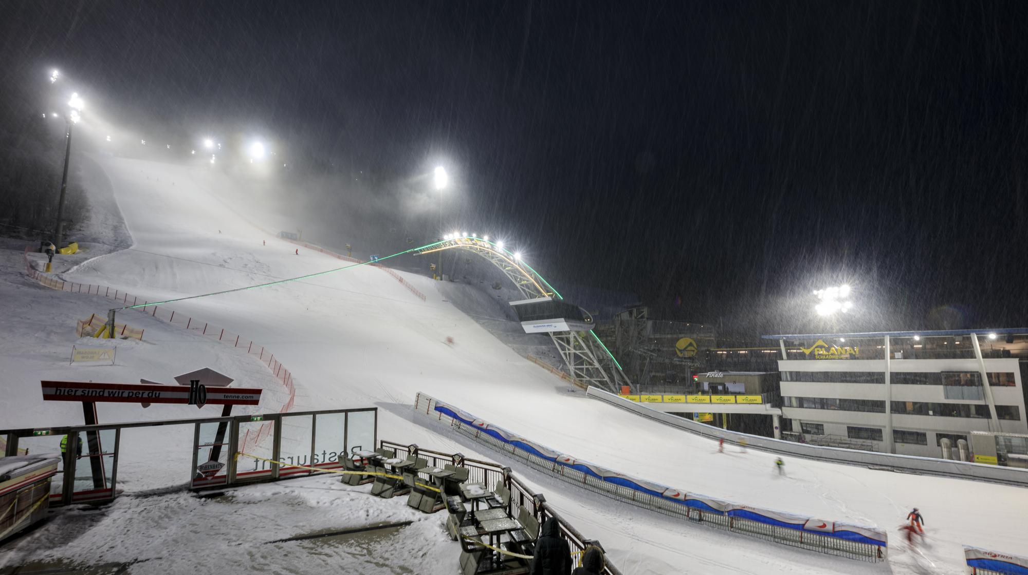 Strecke beim Ski-Weltcup Schladming