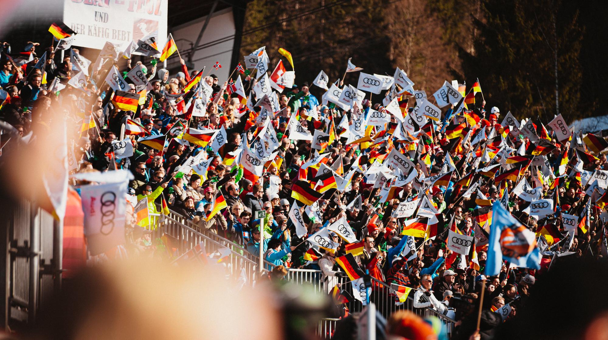 Publikum beim Weltcup in Garmisch-Partenkirchen