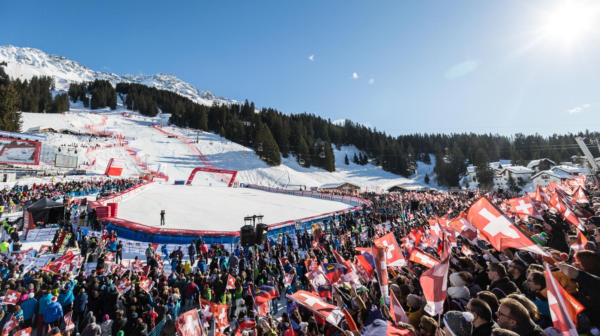 Zielraum beim Ski-Weltcup in Lenzerheide