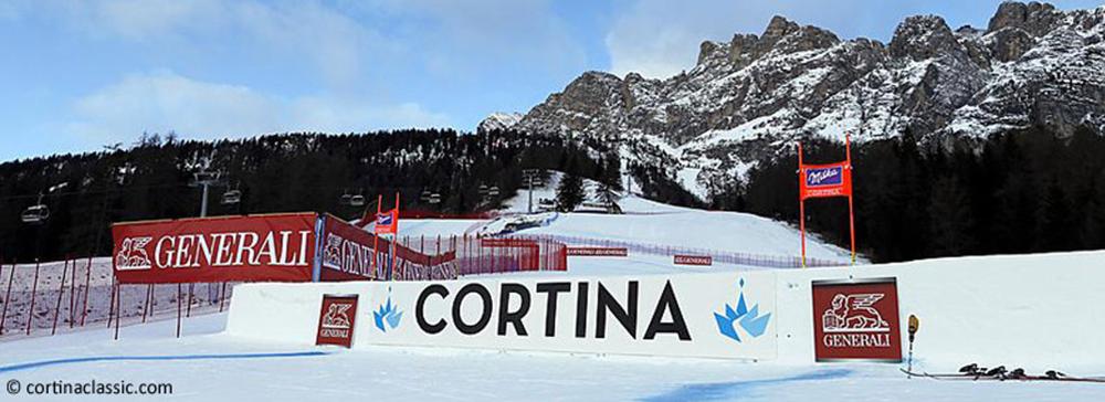 Weltcup-Strecke in Cortina d'Ampezzo