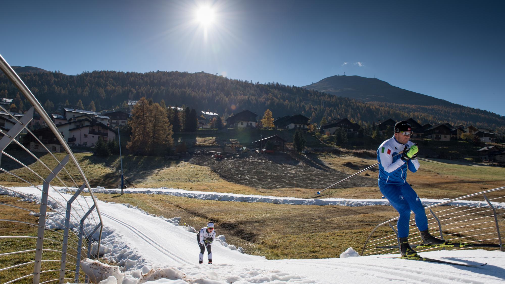 Langlaufen ist in Livigno dank der Snowfarming-Technik schon ab Mitte Oktober möglich