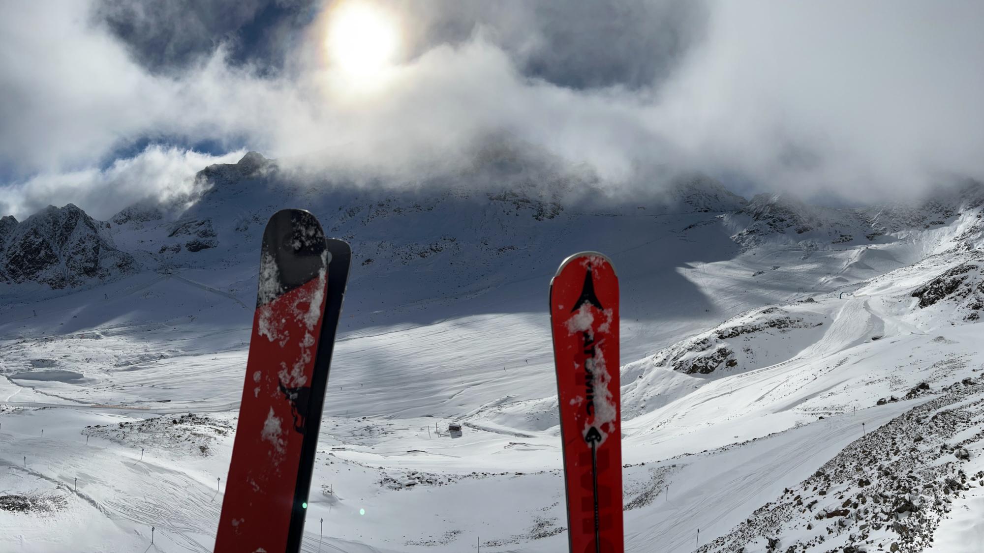 Blick auf das Gletscherskigebiet im Kaunertal