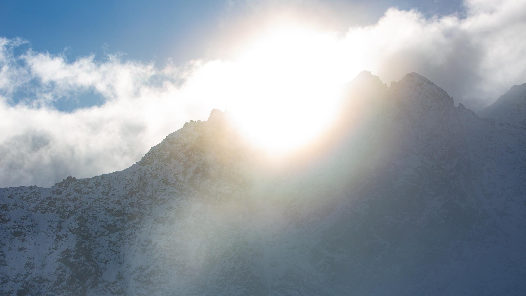 Nach dem Neuschnee kam die Sonne