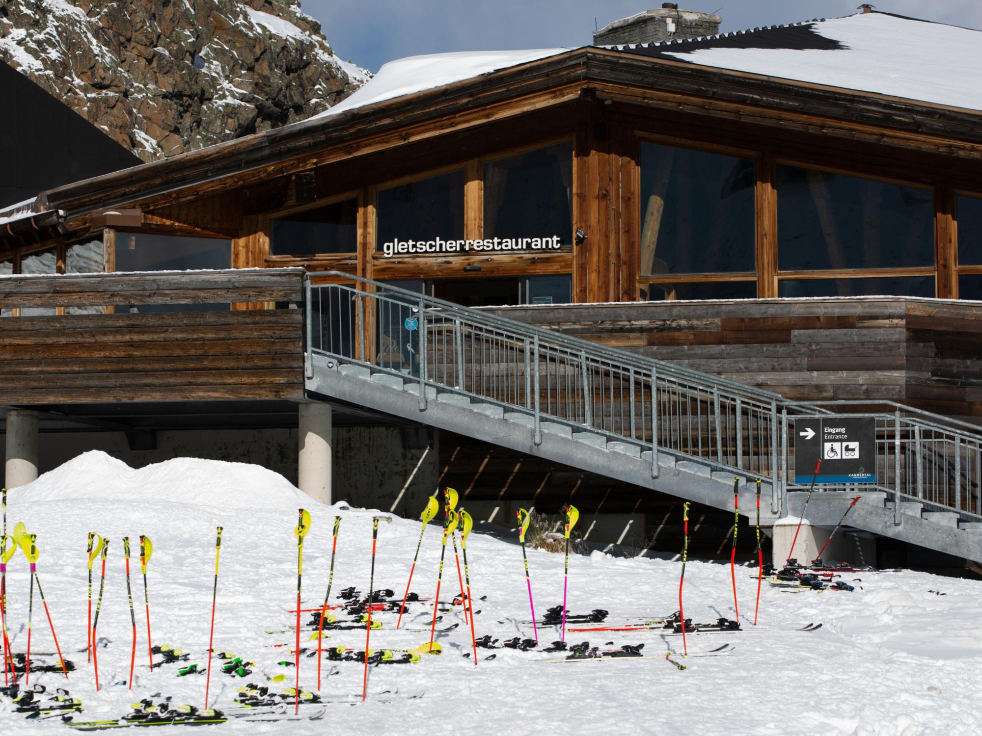 Blick auf das Gletscherrestaurant Kaunertaler Gletscher