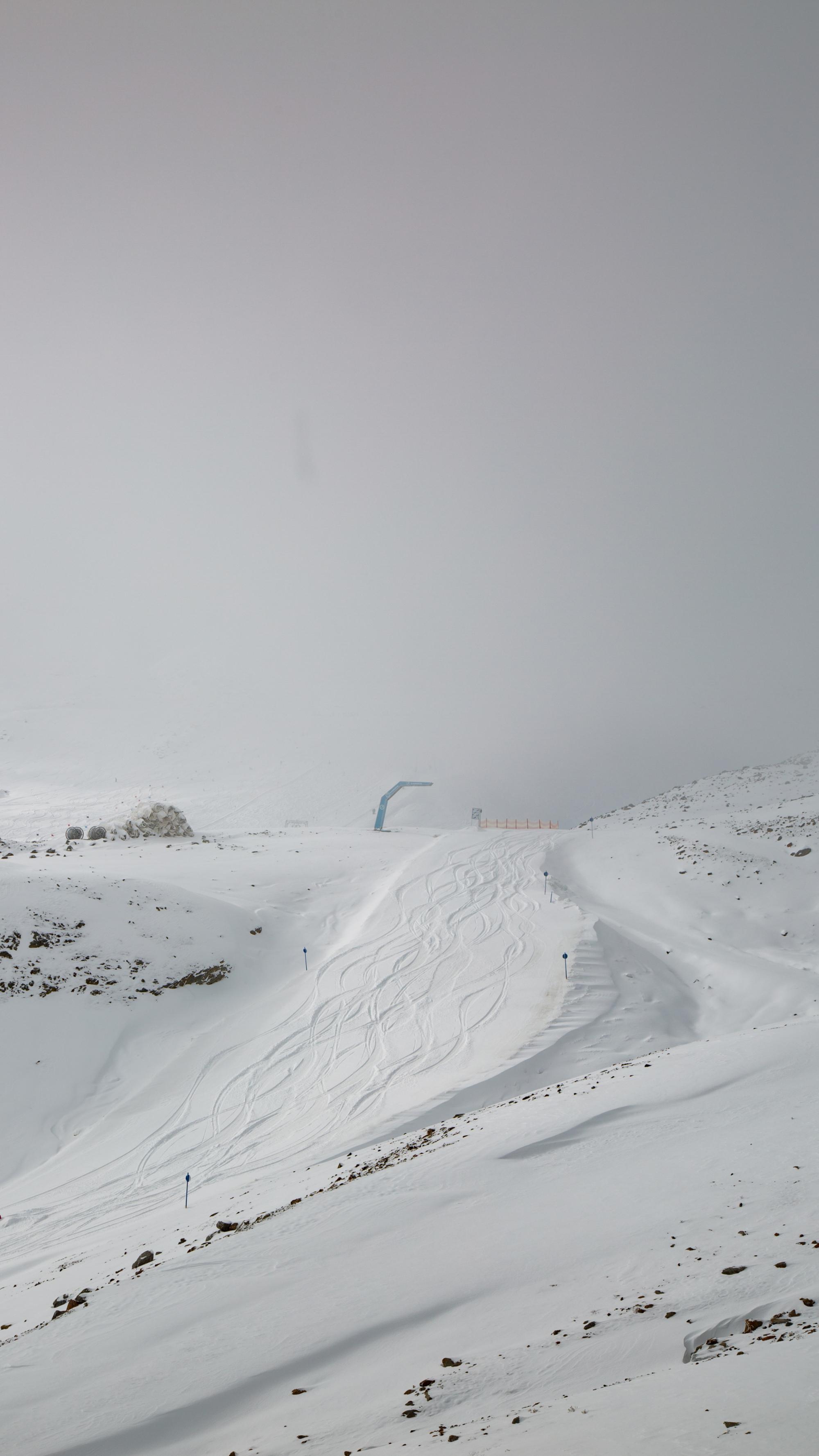 Blick auf das Skigebiet Kaunertaler Gletscher (Oktober 2021)