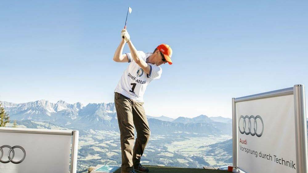 Golfer beim Streif Attack in Kitzbühel