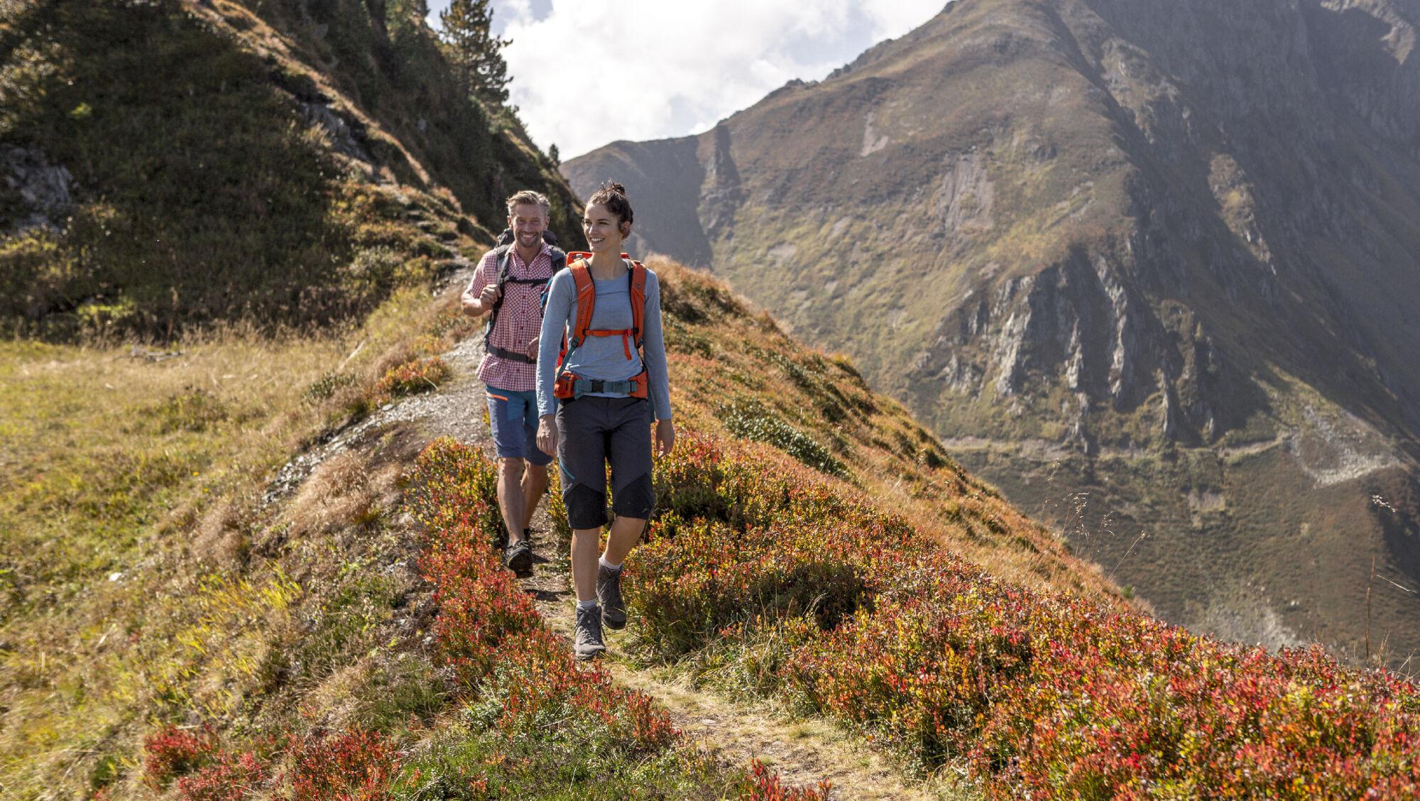 Wanderer am Spieljoch im Zillertal