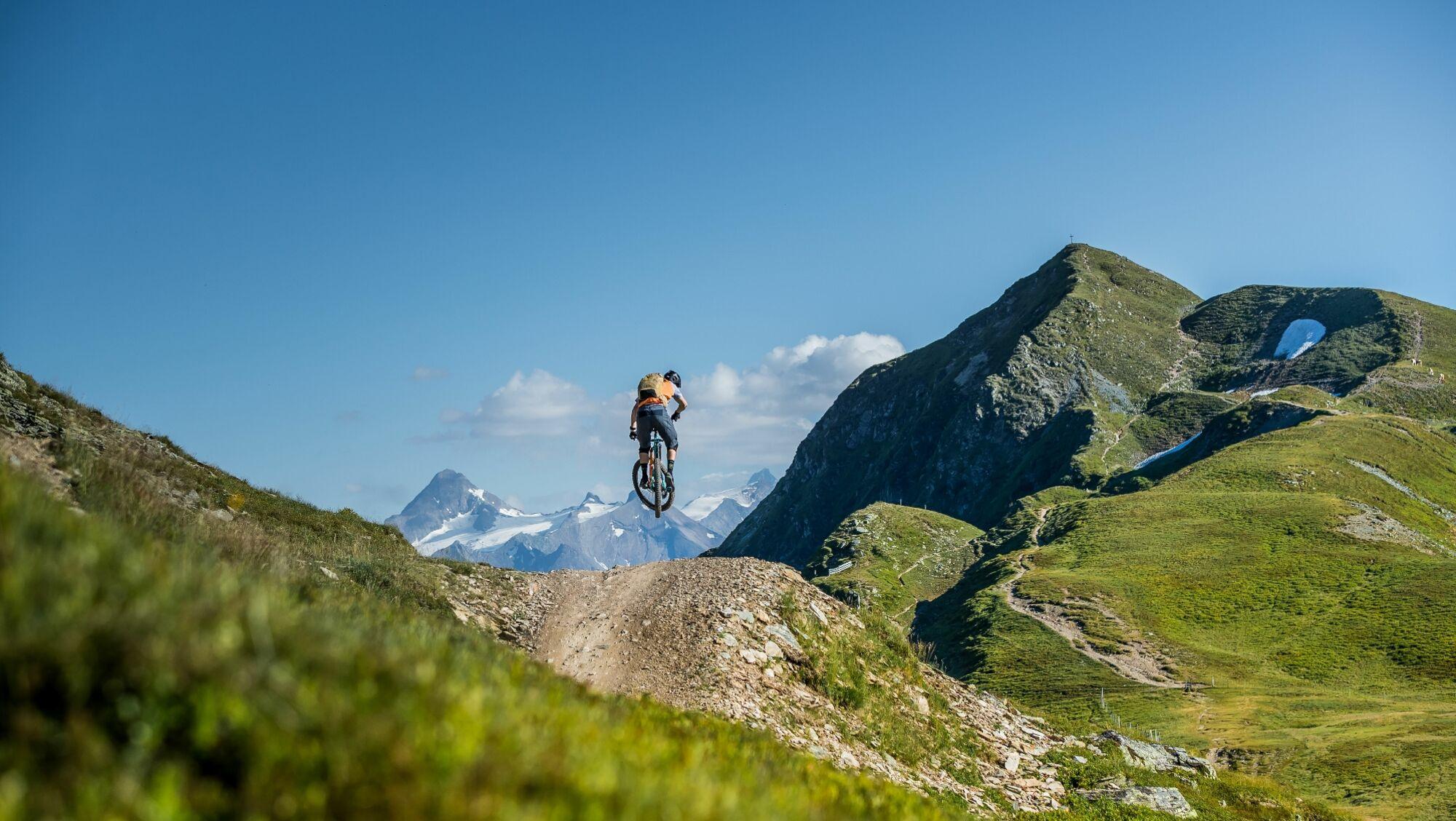 Mountainbiker in der Bikeregion Saalbach Hinterglemm