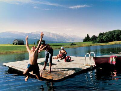 Badespaß am Schönenbodensee