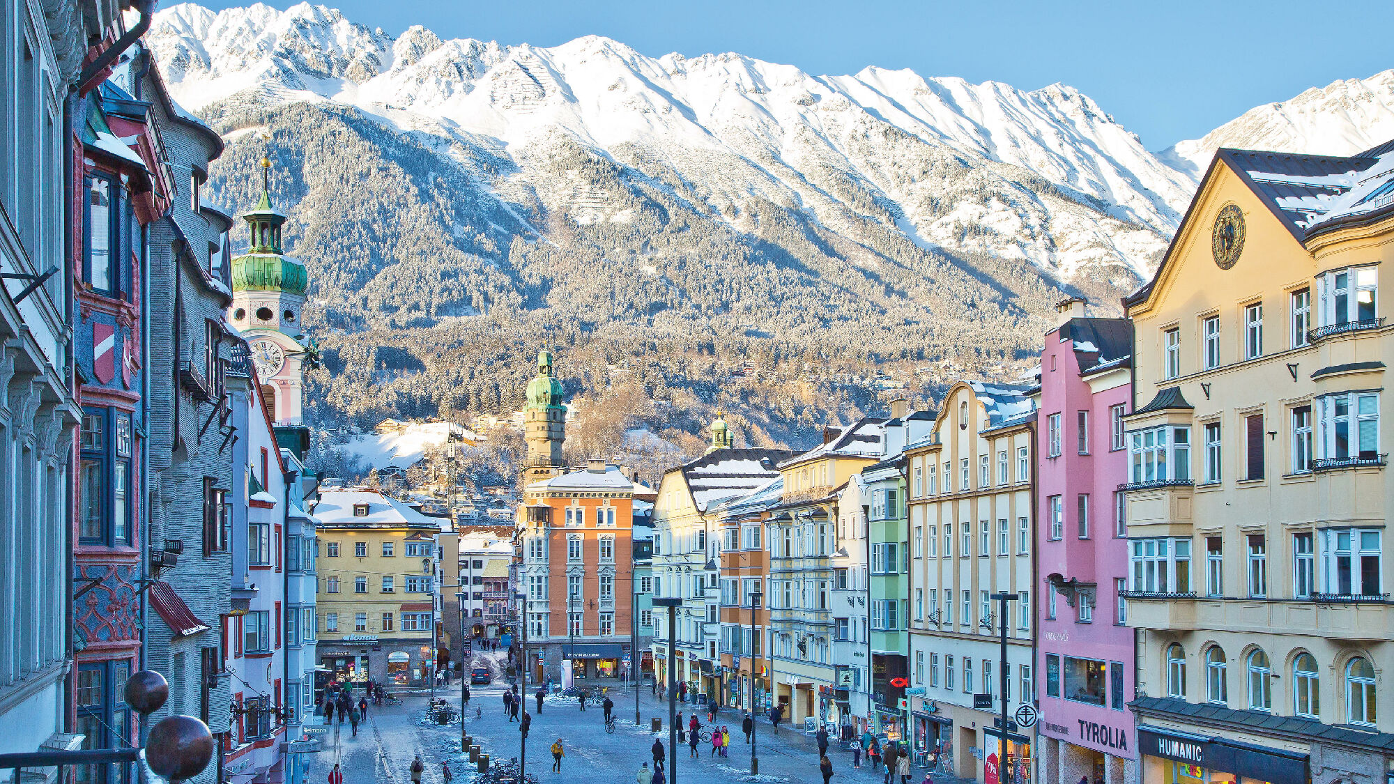 Blick auf die Innenstadt von Innsbruck