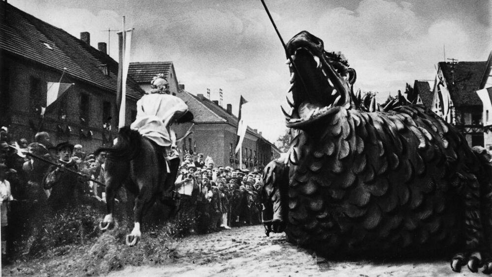 Historischer Drachen der Drachenfestspiele