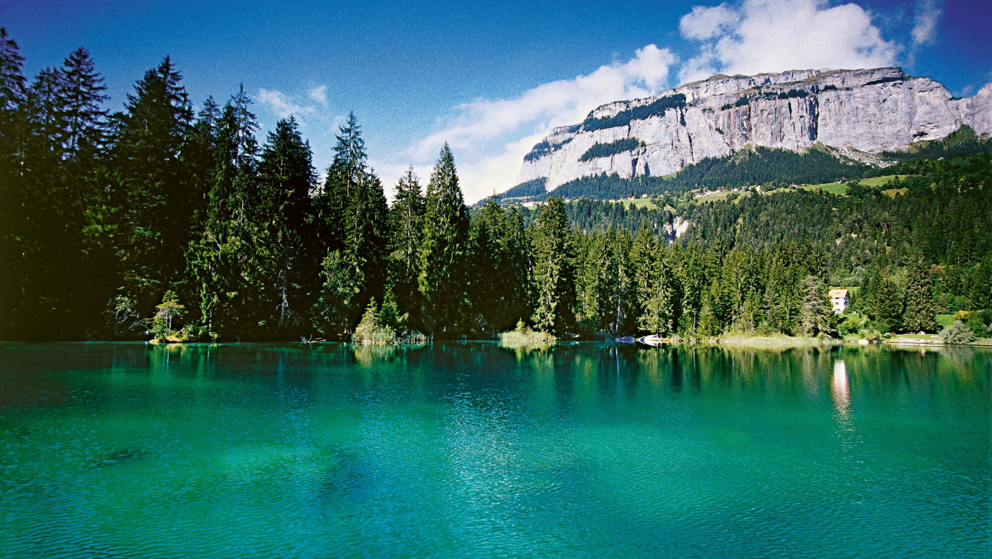 Bergkulisse am Crestasee