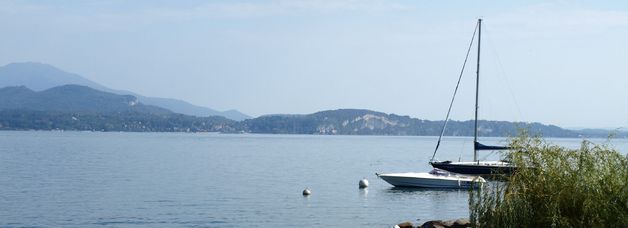 Segelboot am Lago Maggiore
