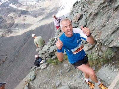 Spaß beim Großglockner Berglauf