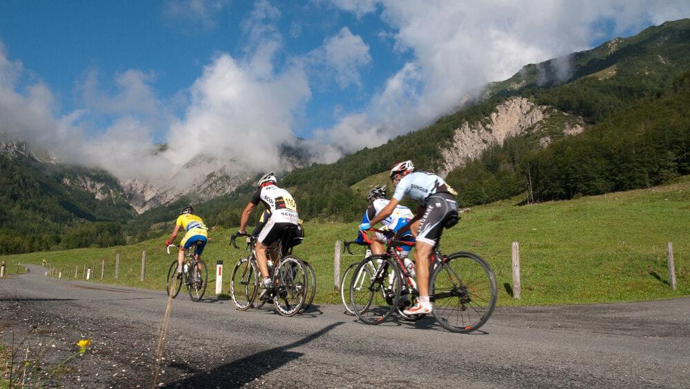 Beim Straßenradrennen
