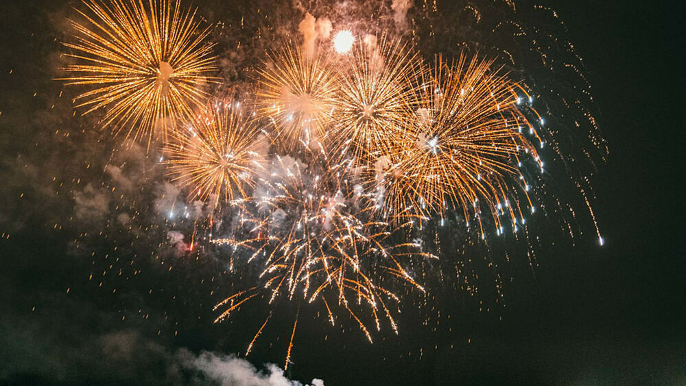 Traditionelles Feuerwerk
