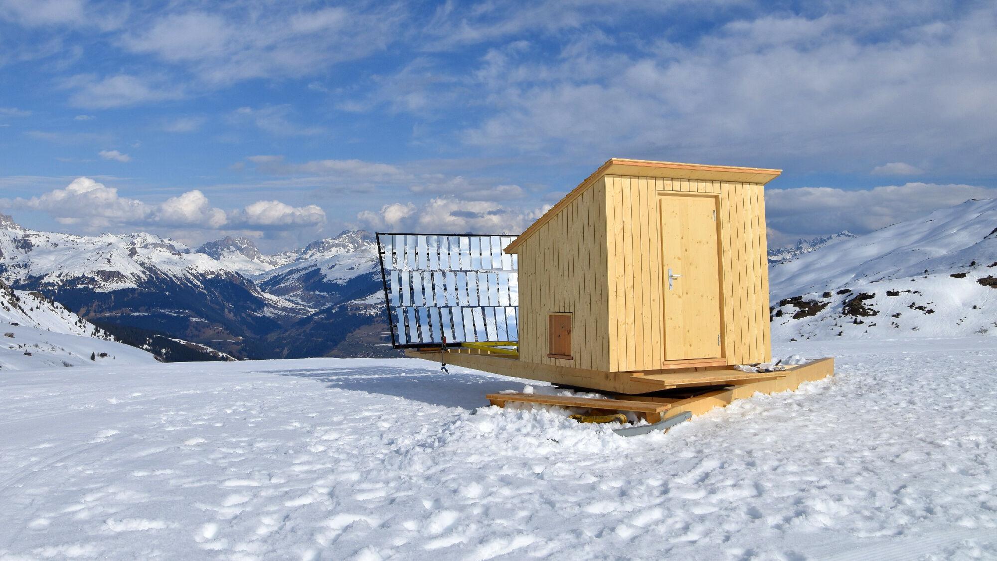 Solarsauna im Schnee