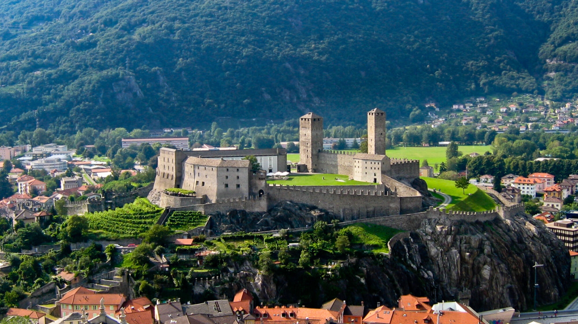 Blick auf Castelgrande Bellinzona