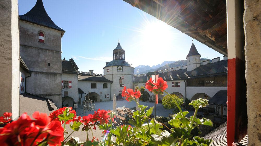 Burghof der Burg Hohenwerfen