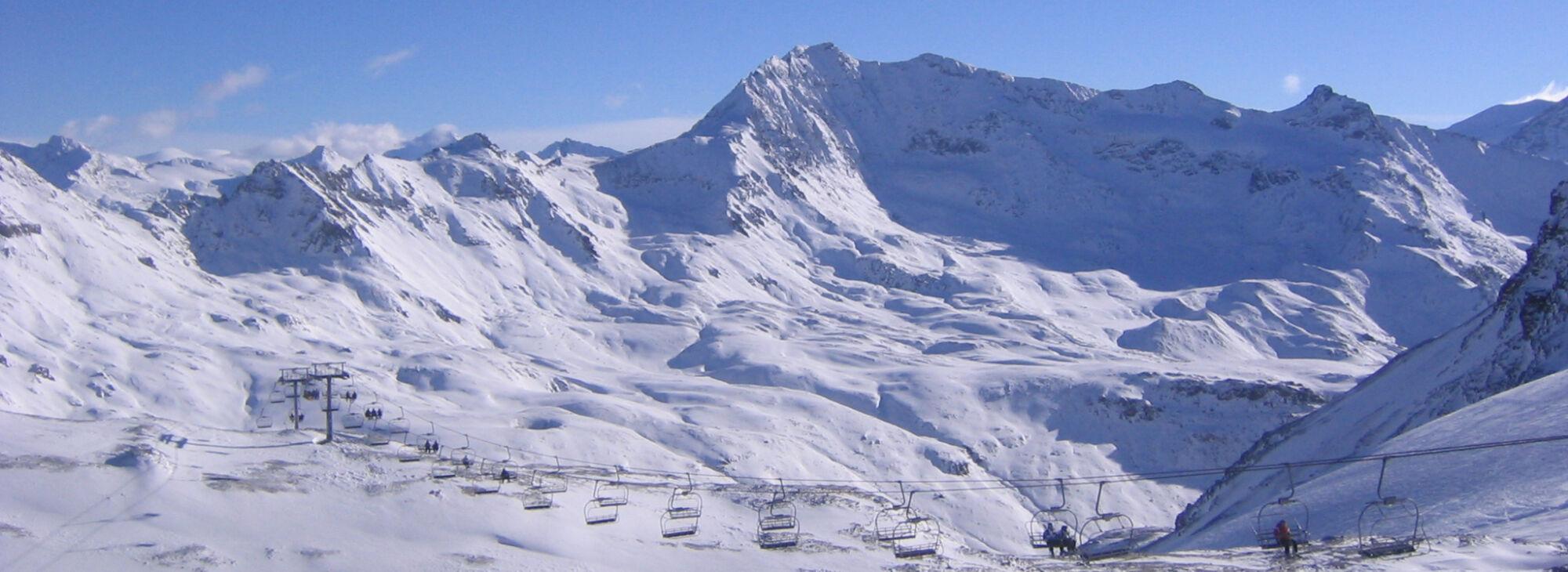 Skilift am Grande Motte-Gletscher