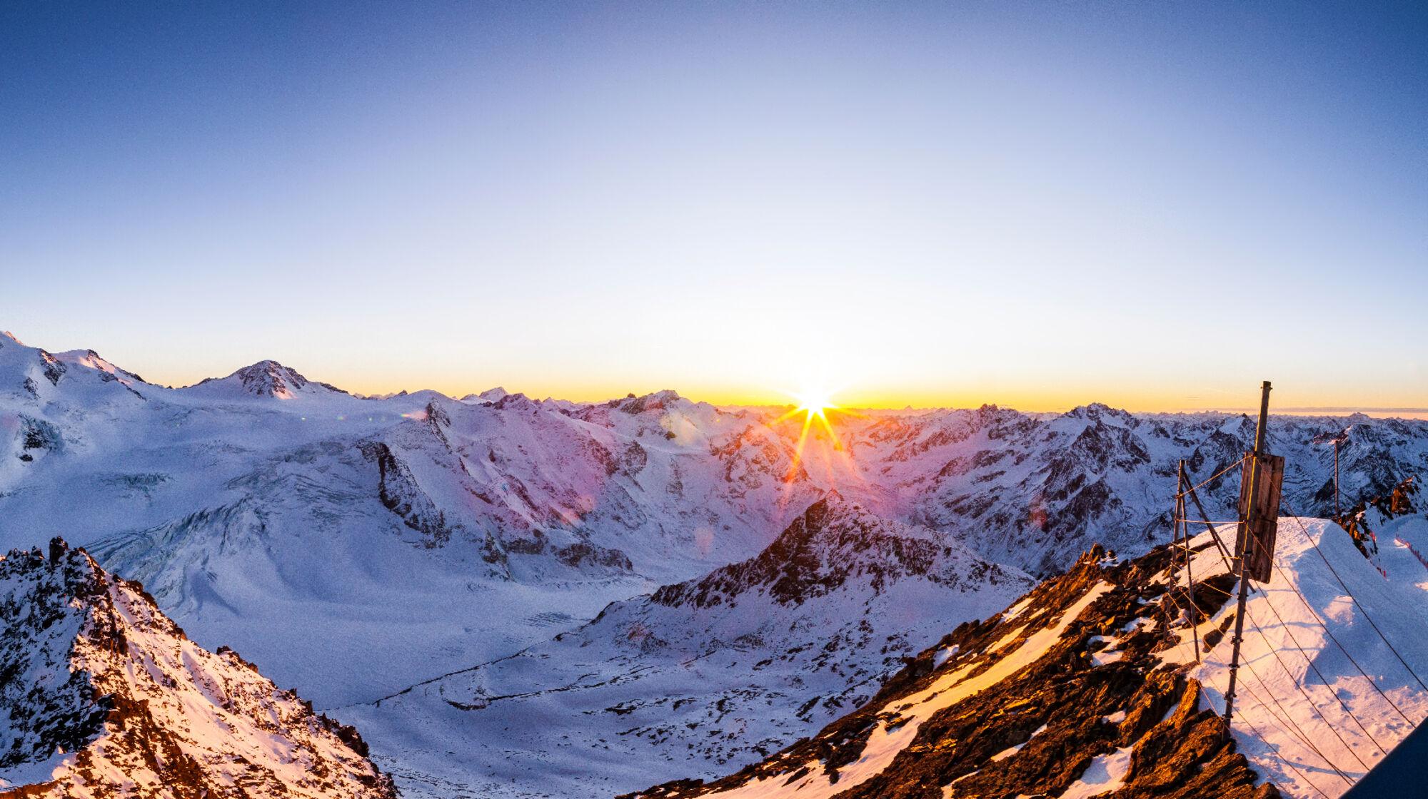 Sonnenuntergang am Pitztaler Gletscher