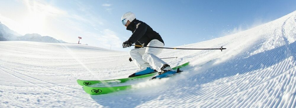 Skifahrer in Corviglia - St. Moritz