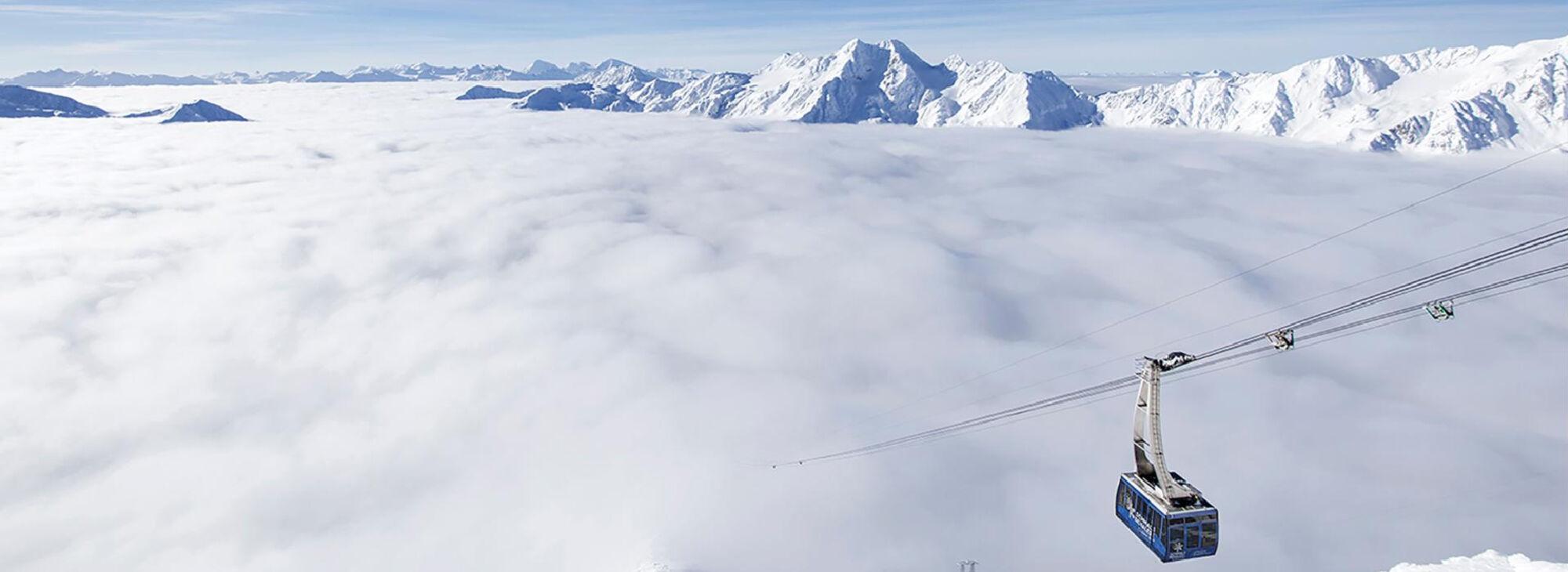 Wolkenmeer am Schnalstaler Gletscher