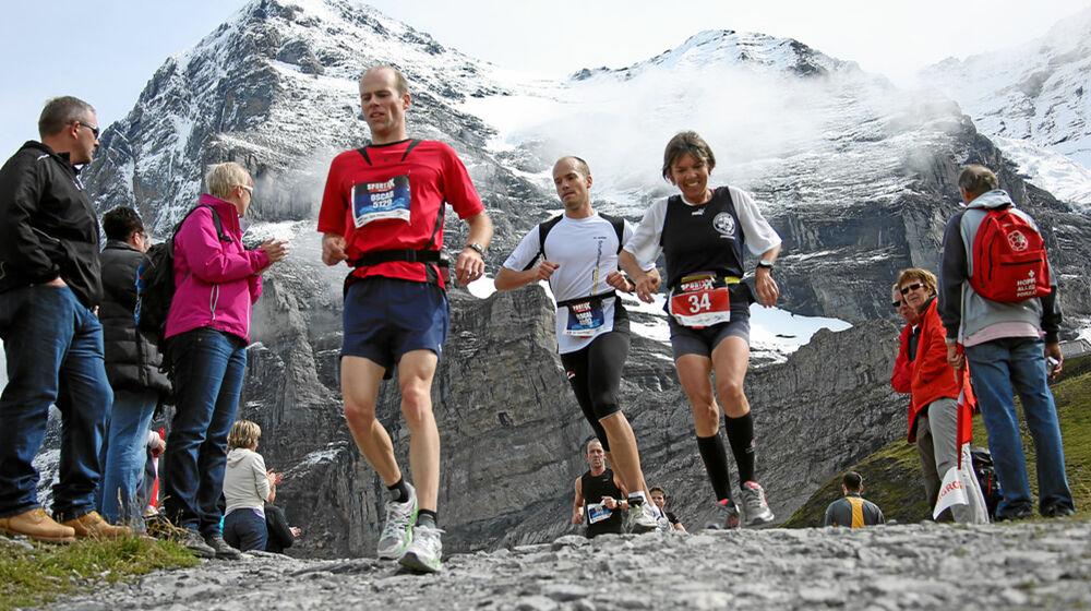 Läufer beim Jungfrau Marathon