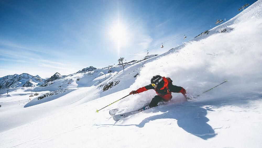 Der Stubaier Gletscher ist ein Paradies für Freerider