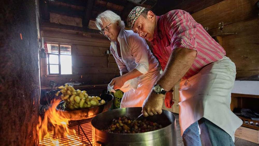 Eine der Kulinarikstationen - Gaumenfreuden der Extraklasse