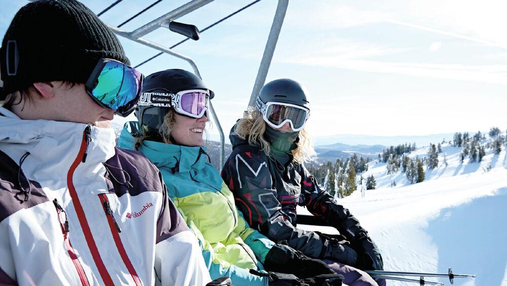 Wintersportler in Columbia Skiwear