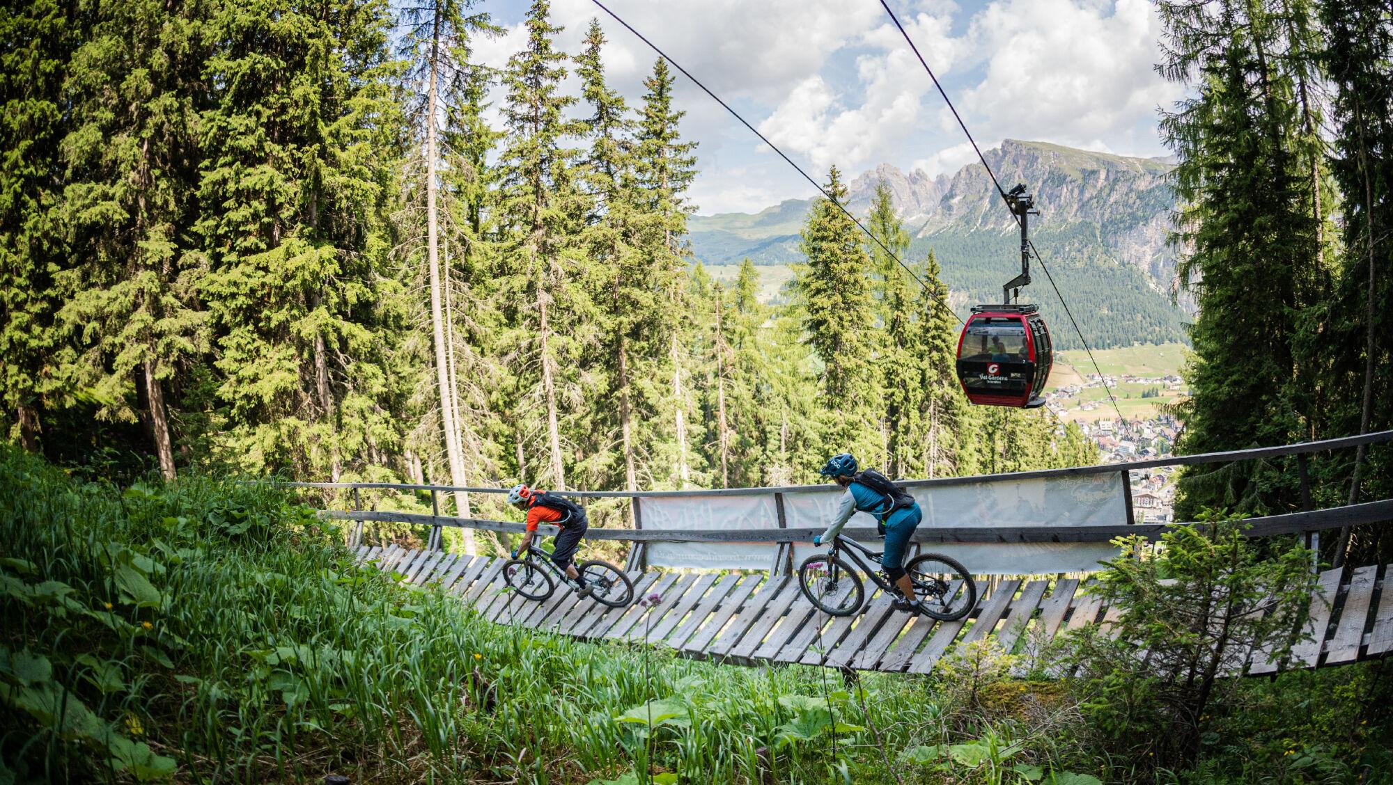 Mit dem kostenlosen Tagesticket die Trails im Val Gardena befahren