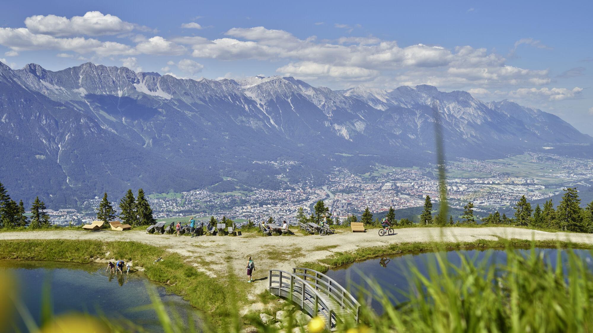 Blick auf die Landschaft Innsbruck