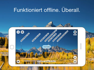 Screenshot von der PeakFinder APP