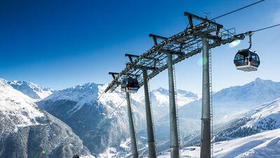 Gondel im Skigebiet Sölden